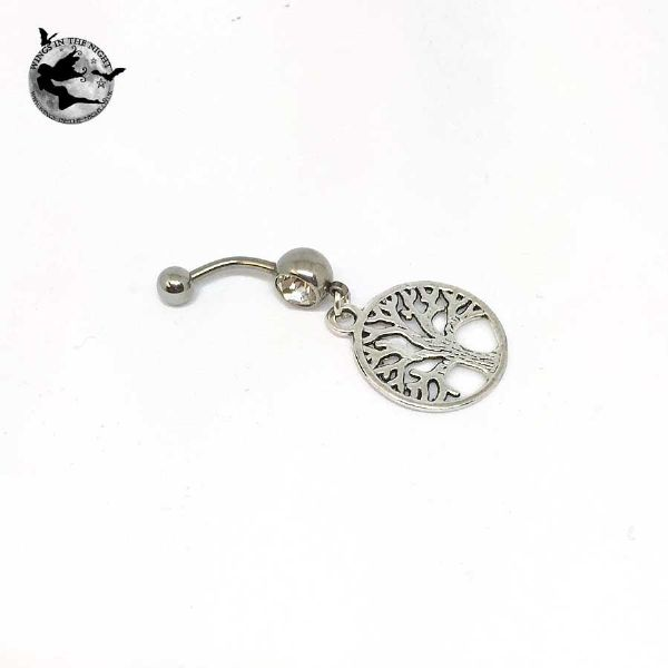 Celtic Tree of Life Steel Navel / Belly Bar